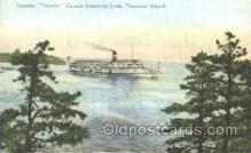 shi009088 - Steamer Toronto Steamer Ship Ships Postcard Postcards