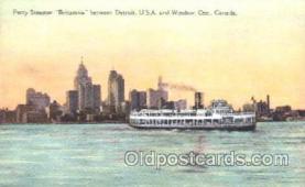 shi009097 - Ferry Steamer Britannia Steamer Ship Ships Postcard Postcards