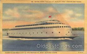 shi009100 - Motor Ferry Kalakala Steamer Ship Ships Postcard Postcards