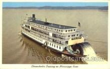 shi009102 - Sternwheeler on Mississippi River Steamer Ship Ships Postcard Postcards