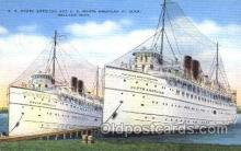 shi009108 - S.S. South American & S.S. North American Steamer Ship Ships Postcard Postcards
