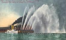 shi009114 - Fireboat David Scannell Steamer Ship Ships Postcard Postcards