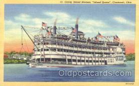 shi009118 - Steamer Island Queen Steamer Ship Ships Postcard Postcards