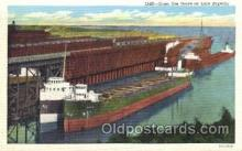 shi009127 - Ore dock Steamer Ship Ships Postcard Postcards