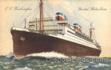 shi009133 - S.S. Washington United States Line, Lines, Ship Ships Postcard Postcards