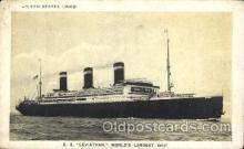 shi009138 - S.S. Leviathan United States Line, Lines, Ship Ships Postcard Postcards