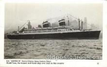 shi009140 - S.S. America United States Line, Lines, Ship Ships Postcard Postcards