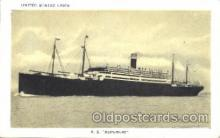 shi009141 - S.S. Republic United States Line, Lines, Ship Ships Postcard Postcards