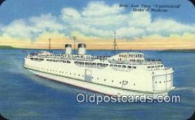 shi009152 - The Vacationland, The Worlds Largest steamer, Michigan, MI USA Steam Ship Postcard Post Card