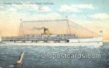 shi009157 - Steamer Catalina, Catalina Island, California, CA USA Steam Ship Postcard Post Card