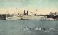 shi009159 - Steamer C.W Morse, Hudson River, New York, NY USA Steam Ship Postcard Post Card