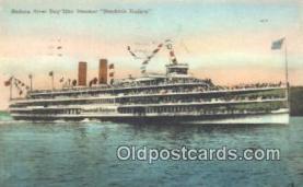 shi009166 - Hudson River Day Line Steamer, Hendricks Hudson, New York, NY USA Steam Ship Postcard Post Cards