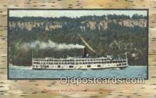 shi009169 - Palisades And Steamer, Homer, Ramdell, USA Steam Ship Postcard Post Cards