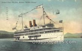 shi009170 - Hudson River Day Line Steamer, DeWitt Clinton, New York , NY USA Steam Ship Postcard Post Cards