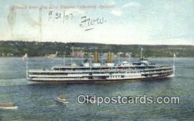 shi009172 - Hudson Day Line Steamer Hendricks Hudson, New York City, New York, NY USA Steam Ship Postcard Post Cards