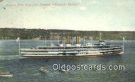 shi009173 - Hudson River Day Line Steamer, Hendricks Hudson, New York, NY USA Steam Ship Postcard Post Card