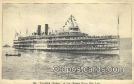 shi009176 - Hudson River Day Line Steamer, Hendricks Hudson, New York, NY USA Steam Ship Postcard Post Card