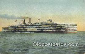 shi009178 - Hudson River Day Line Steamer, Hendricks Hudson, New York, NY USA Steam Ship Postcard Post Card