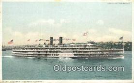 shi009179 - Hudson River Day Line Steamer, Hendricks Hudson, New York, NY USA Steam Ship Postcard Post Card