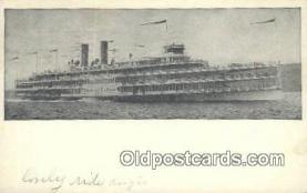 shi009180 - Hudson River Day Line Steamer, Hendricks Hudson, New York, NY USA Steam Ship Postcard Post Card