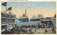 shi009182 - Excursion Steamers, Detroit, Michigan, MI USA Steam Ship Postcard Post Card