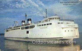 shi009183 - The Vacationland, The Worlds Largest steamer, Michigan, MI USA Steam Ship Postcard Post Card