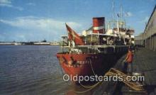 shi009192 - Along The Waterfront, New Orleans, Louisiana, LA USA Steam Ship Postcard Post Card