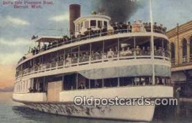 shi009197 - Belle Isle Pleasure Boat, Detroit, Michigan, MI USA Steam Ship Postcard Post Cards