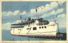 shi009203 - Chief Commanda, North Bay, Ontario, Canada Steam Ship Postcard Post Cards