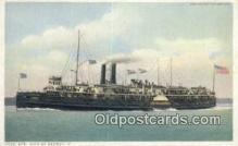 shi009206 - Steamer City Of Detroit II, Detroit, Michigan, MI USA Steam Ship Postcard Post Cards