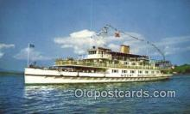 shi009209 - The Motor Vessel Mount Washington, Lake Winnipesaukee, New Hampshire, NH USA Steam Ship Postcard Post Cards
