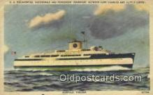shi009211 - SS Pocahontas, Norfolk, Virginia, VA USA Steam Ship Postcard Post Cards