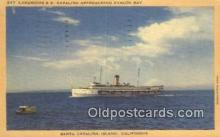 shi009212 - Luxurious SS Catalina, Santa Catalina Island, California, CA USA Steam Ship Postcard Post Cards