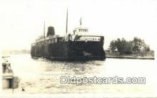 shi009215 - Real Photo Ludineton, Michigan, MI USA Steam Ship Postcard Post Cards