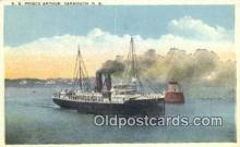 shi009216 - The SS Prince Arthur, Yarmouth, Nova Scotia, NS Steam Ship Postcard Post Cards
