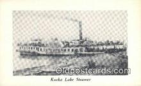 shi009222 - Kueka Lake Steamer, Brooklyn, New York, NY USA Steam Ship Postcard Post Cards