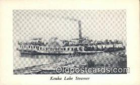 shi009224 - Kueka Lake Steamer, Brooklyn, New York, NY USA Steam Ship Postcard Post Cards