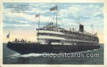 shi009226 - Whaleback Steamer Christopher Columbus, Milwaukee, Wisconsin, WI USA Steam Ship Postcard Post Cards