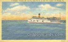 shi009228 - Steamer Virginia Lee, Norfolk, Virginia, VA USA Steam Ship Postcard Post Cards
