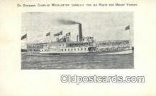 shi009231 - On Steamer Charles Macalester, Mount Vernon, Virginia, VA USA Steam Ship Postcard Post Cards