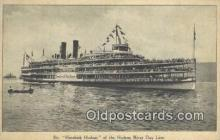 shi009240 - Steamer Hendricks Hudson, Hudson River, New York, NY USA Steam Ship Postcard Post Cards