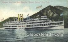 shi009242 - Steamer Robert Fulton, Hudson River, New York, NY USA Steam Ship Postcard Post Cards