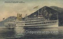 shi009243 - Hudson River Day Line, Robert Fulton, New York, NY USA Steam Ship Postcard Post Cards