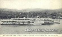 shi009244 - The Steel Steamer, Robert Fulton, New York, NY USA Steam Ship Postcard Post Cards