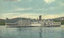 shi009246 - Steamer Robert Fulton, Hudson River, New York, NY USA Steam Ship Postcard Post Cards