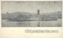 shi009248 - Steamer Robert Fulton, Hudson River, New York, NY USA Steam Ship Postcard Post Cards