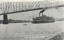 shi009255 - Real Photo, Marietta, Ohio, OH USA Steam Ship Postcard Post Cards