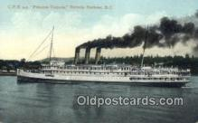 shi009258 - Steamer SS Princess Victoria, Victoria Harbor, British Columbia, BC  Steam Ship Postcard Post Cards