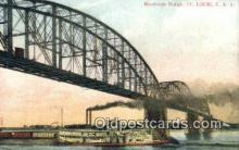 shi009259 - Merchants Bridge, St Louis, Missouri, MO USA Steam Ship Postcard Post Cards