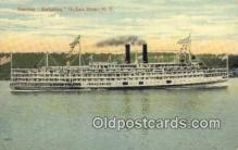 shi009261 - Steamer Bershire, Hudson River, New York, NY USA Steam Ship Postcard Post Cards